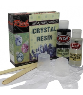 Rich Kristal Reçine  Crystal Resin Opak SiYAH Set 195cc