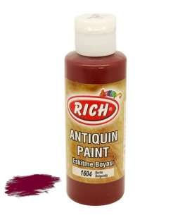 Rich 1612 Bordo 130 ml Antiquin Eskitme  Boyası