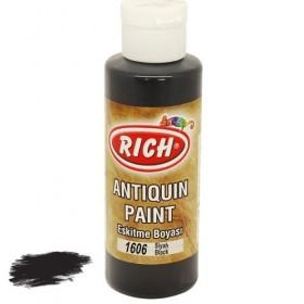Rich 1606 Siyah 130 ml Antiquin Eskitme Ahşap Boyası