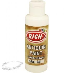 Rich 1616 Beyaz 130 ml Antiquin Eskitme Ahşap Boyası