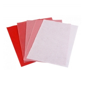 Lino Kırmızı Keçe 5 Desen 10'lu Paket - 20x30cm