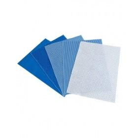 Lino Mavi Keçe 5 Desen 10'lu Paket - 20x30cm