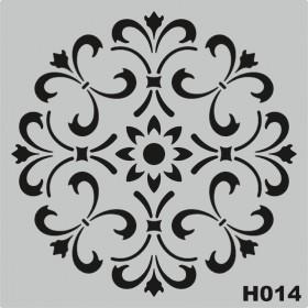 H014 Stencil Şablon 25x25cm