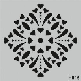 H015 Stencil Şablon 25x25cm