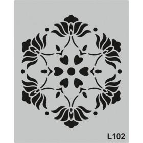 L102 Stencil 20x24 cm