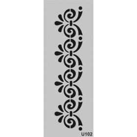 U102 Stencil 10x25 cm