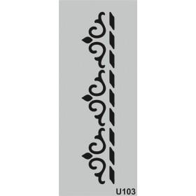 U103 Stencil 10x25 cm