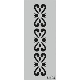U104 Stencil 10x25 cm