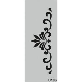 U106 Stencil 10x25 cm