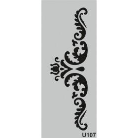 U107 Stencil 10x25 cm