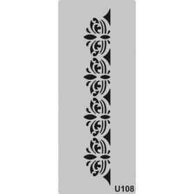 U108 Stencil 10x25 cm