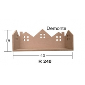 Bacalı Evler Rafı (Demonte) 40x18cm