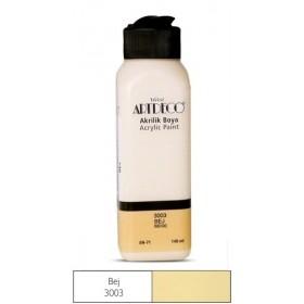 3003-Bej  Artdeco Yeni Formül Akrilik Boya 140 ml