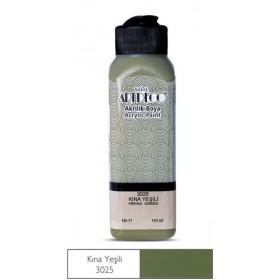 3025 Kına Yeşili Artdeco Yeni Formül Akrilik Boya 140 ml