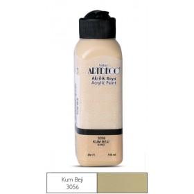 3056 Kum Beji Artdeco Yeni Formül Akrilik Boya 140 ml