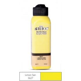 3627 Limon Sarı Artdeco Yeni Formül Akrilik Boya 140 ml