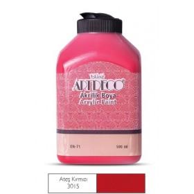 Artdeco 500ml 3015 Ateş Kırmızı Akrilik Boya