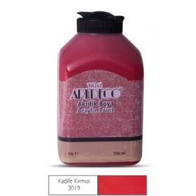 Artdeco 500ml 3019 Kadife Kırmızı Akrilik Boya