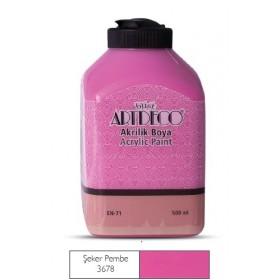 Artdeco 500ml 3678 Şeker Pembeı Akrilik Boya