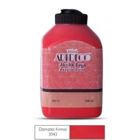 Artdeco 500ml 3043 Domates Kırmızı Akrilik Boya