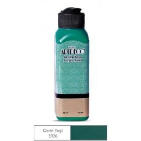3026 Derin Yeşil  Artdeco Yeni Formül Akrilik Boya 140 ml