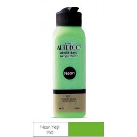 950 Neon Yeşil Artdeco Yeni Formül Akrilik Boya 140 ml