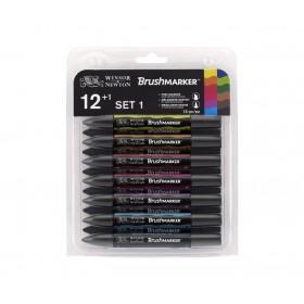 Winsor & Newton BrushMarker Kalem 12 Renk Neutral Tones Set Gri Tonlar
