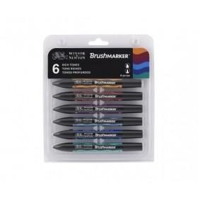 Winsor & Newton BrushMarker Kalem 12 Renk Vibrant Tones Set Güçlü Tonlar