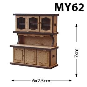 Mutfak Dolabı Minyatür Ahşap Obje MY62
