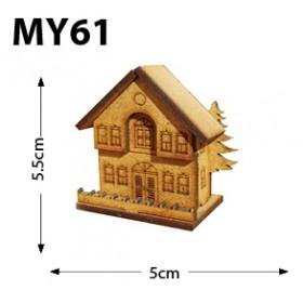 Çamlı Ev Minyatür Ahşap Obje MY61