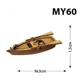 Kayık Minyatür Ahşap Obje