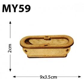 Oval Küvet Minyatür Ahşap Obje
