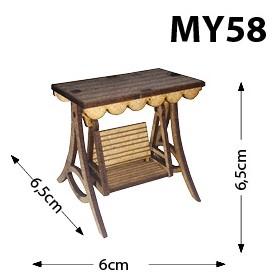Bahçe Salıncak Minyatür Ahşap Obje MY58