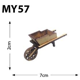 El Arabası Minyatür Ahşap Obje MY58