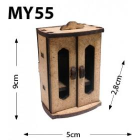 İki Kapaklı Dolap Sehpa Minyatür Ahşap Obje MY55