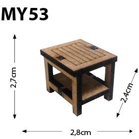 Kare Sehpa Minyatür Ahşap Obje MY53