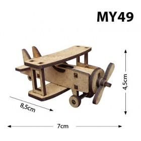 Uçak Minyatür Ahşap Obje MY50