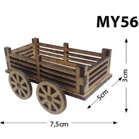 Çitli Araba Minyatür Ahşap Obje MY56