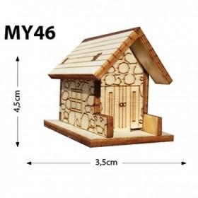 Taş Ev Minyatür Ahşap Obje MY46