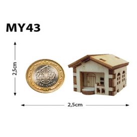 Mini Ev Minyatür Ahşap Obje MY43