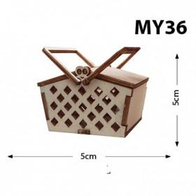 Piknik Sepeti Minyatür Ahşap Obje MY36