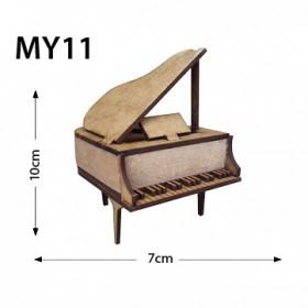 Üç Ayaklı Piyano Minyatür Ahşap Obje