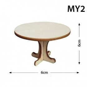 Yuvarlak Masa Minyatür Ahşap Obje
