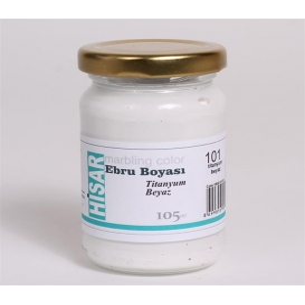 Hisar Ebru Boyası 105cc 101 Titanyum Beyaz