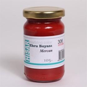 Hisar Ebru Boyası 105cc 306 Mercan