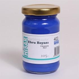 Hisar Ebru Boyası 105cc 403 Ultramarin Mavi