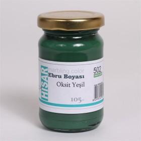 Hisar Ebru Boyası 105cc 502 Oksit Yeşil