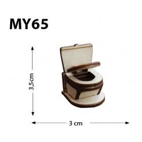 Klozet Minyatür Ahşap Obje MY65