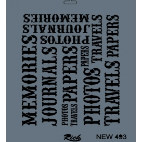 Rich New Seri N-493 Stencil 35x25cm