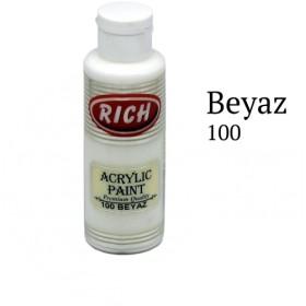 Rich 100 Beyaz 130 ml Ahşap Boyası